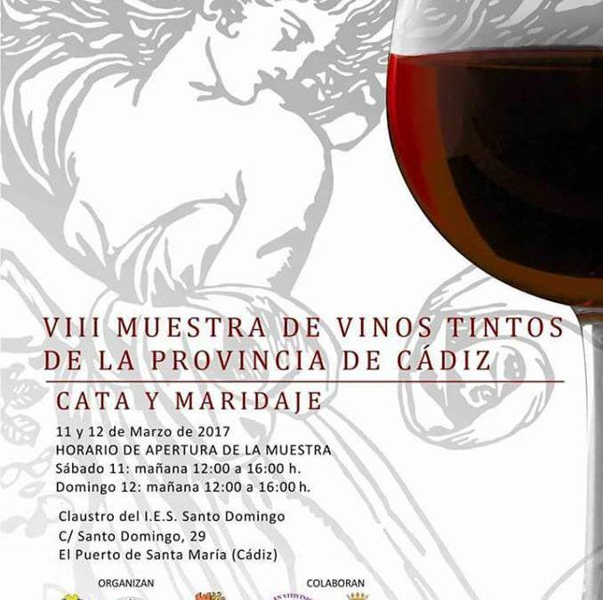La VIII Muestra de Vinos Tintos  de la provincia de Cadiz